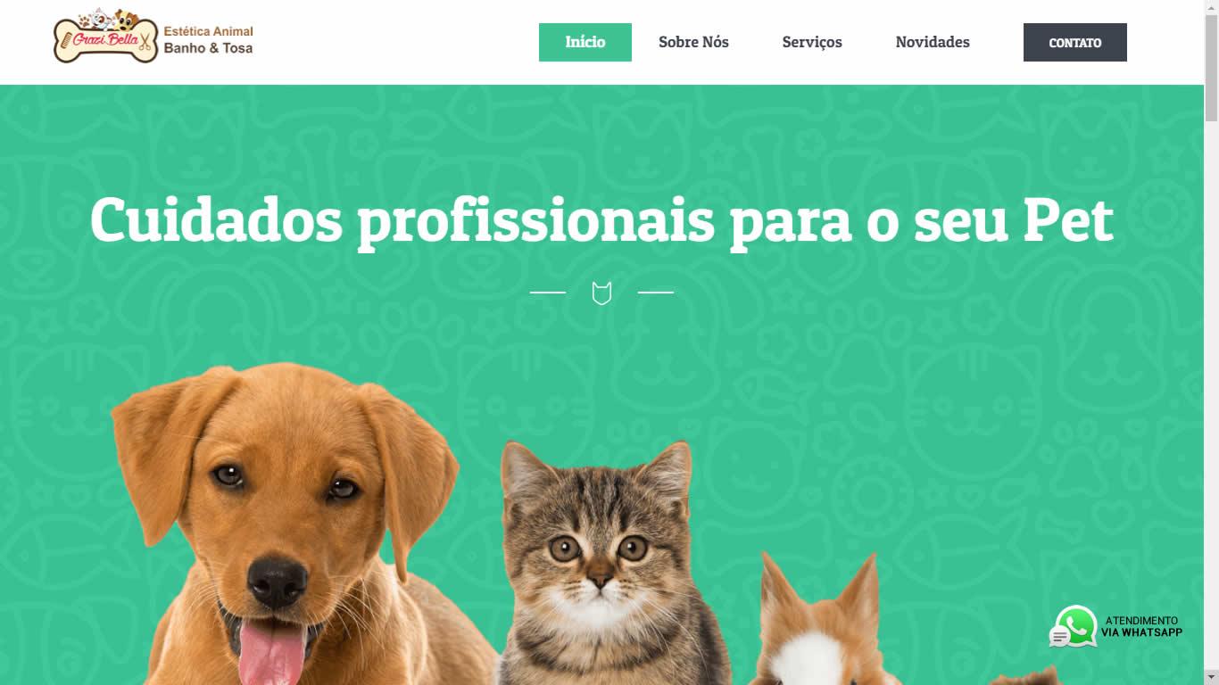 Construlinks Agência Digital - Clientes - Grazi Bella Pet Shop